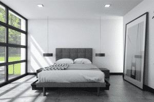 lit reflexx dans la chambre